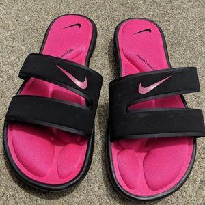Nike Comfort Footbed Slides Hot Pink & Black 9M